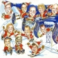 Corporate Group Caricature Christmas Card for My Goodness Shakes from Photos