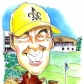 A4 colour caricature of 1 person for leaving present.