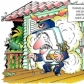 Colour cartoon for promotional article in trade magazine