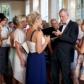 Luke Warm drawing caricatures as entertainment at a wedding reception